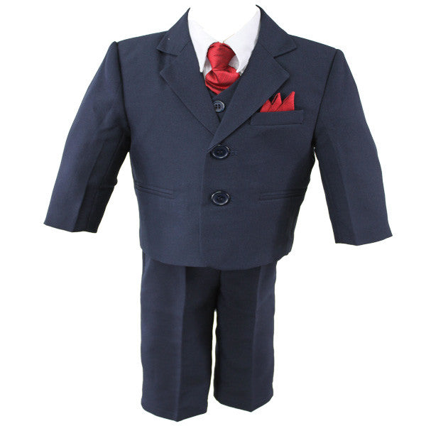 Baby Boys' Formal Suit - 5 Pieces - Navy