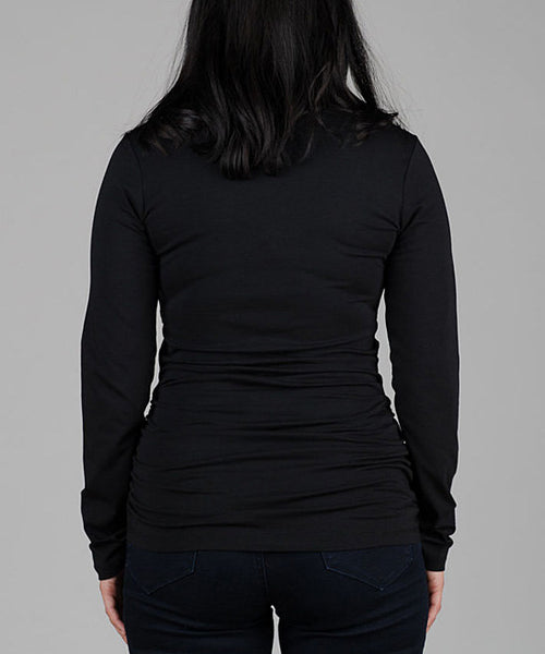 RACHEL NURSING & MATERNITY TOP - BLACK