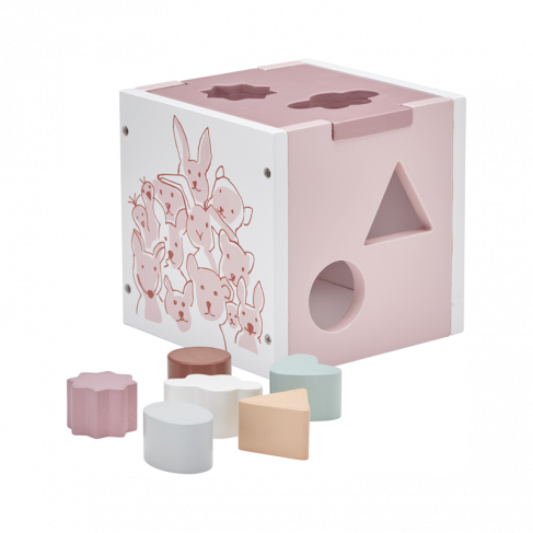 Kids Concept - Shape sorter Pink, Wooden Toys, Kids Concept, nursery, kids, babies, presents, gifts - Home & Me