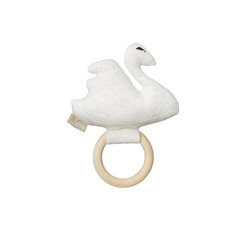 Cam Cam Swan Rattle, Playtime, Cam Cam Copenhagen, nursery, kids, babies, presents, gifts - Home & Me