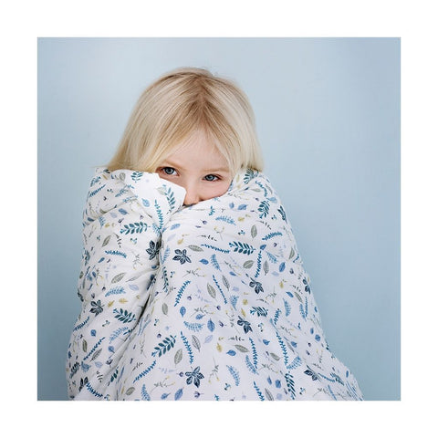 Cam Cam Baby Bedding - Blue Pressed Leaves, Bedding, Cam Cam Copenhagen, nursery, kids, babies, presents, gifts - Home & Me
