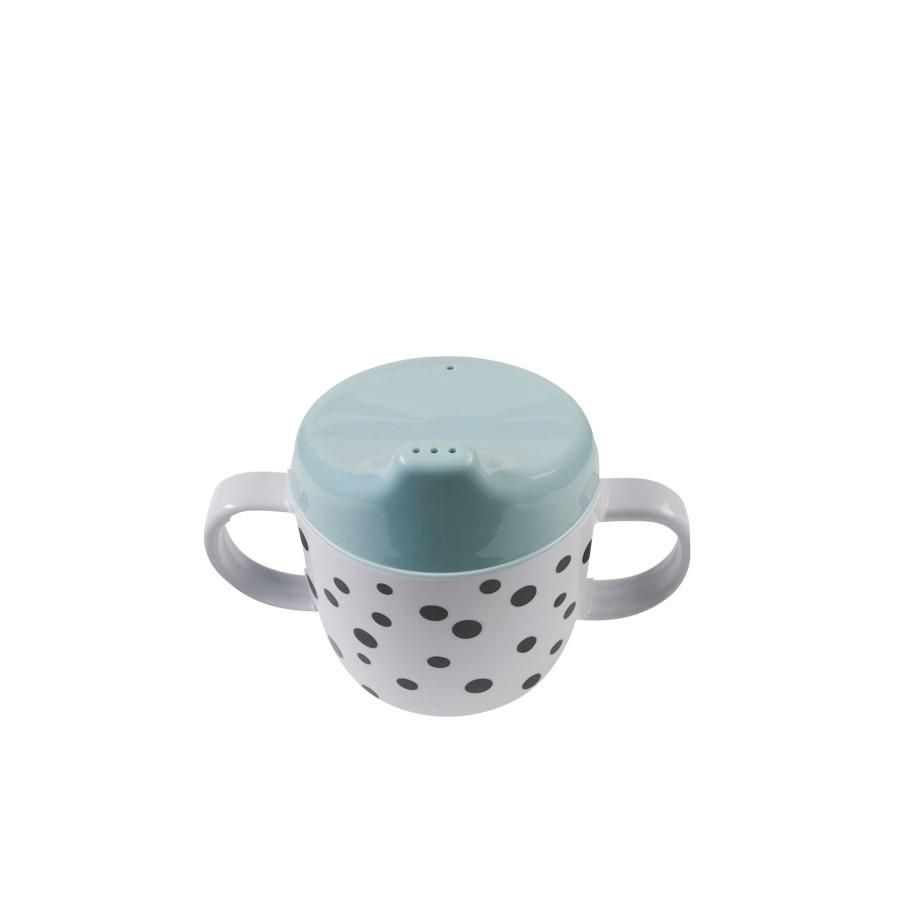 Done By Deer Blue and Black Happy Dots Spout Cup, Dining, done by deer, nursery, kids, babies, presents, gifts - Home & Me