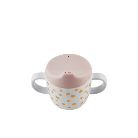 Done By Deer Powder Pink and Gold Happy Dots Spout Cup, Dining, done by deer, nursery, kids, babies, presents, gifts - Home & Me