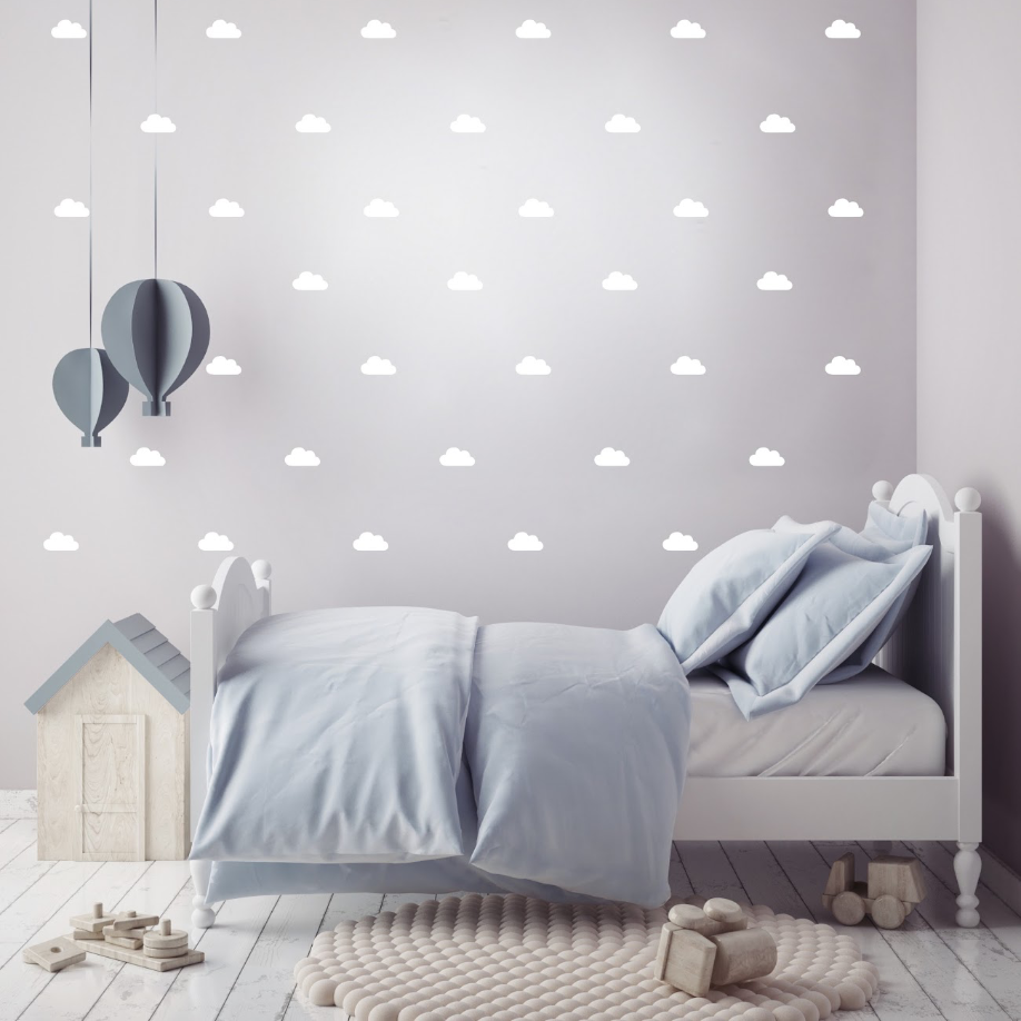 PÖM le Bonhomme White Cloud Wall Stickers, Wall Decor, PÖM le Bonhomme, nursery, kids, babies, presents, gifts - Home & Me