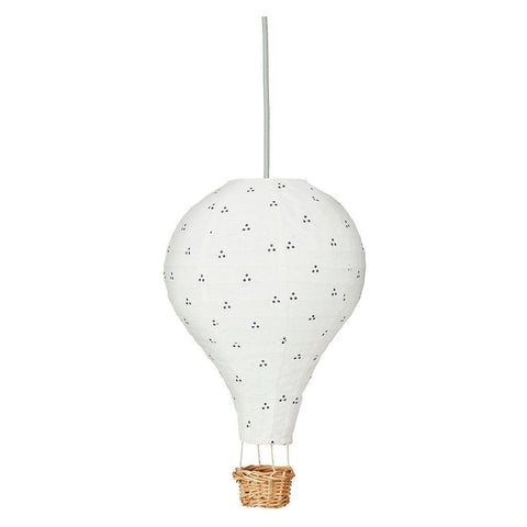Cam Cam Navy Dot Hot Air Balloon Light, Lighting, Cam Cam Copenhagen, nursery, kids, babies, presents, gifts - Home & Me