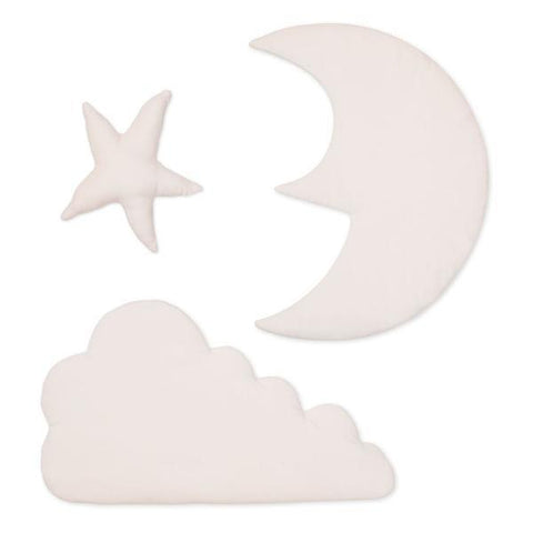 Cam Cam Rose Star Moon & Cloud Wall Decor, Wall Decor, Cam Cam Copenhagen, nursery, kids, babies, presents, gifts - Home & Me