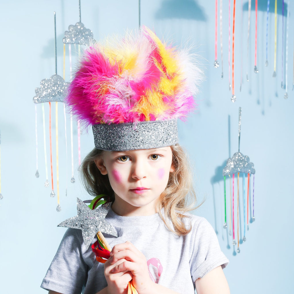 Sparkle Child - Rainbow Feather Crown, Dress Up, Sparkle Child, nursery, kids, babies, presents, gifts - Home & Me