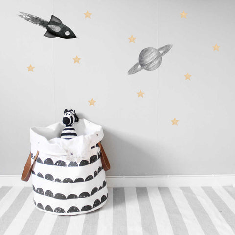 Stickstay Grey Saturn Wall Stickers, Wall Decor, Stickstay, nursery, kids, babies, presents, gifts - Home & Me