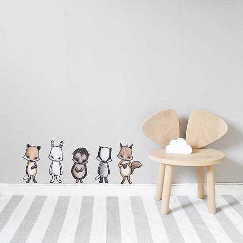 Stickstay Forest Friends Wall Stickers, Wall Decor, Stickstay, nursery, kids, babies, presents, gifts - Home & Me