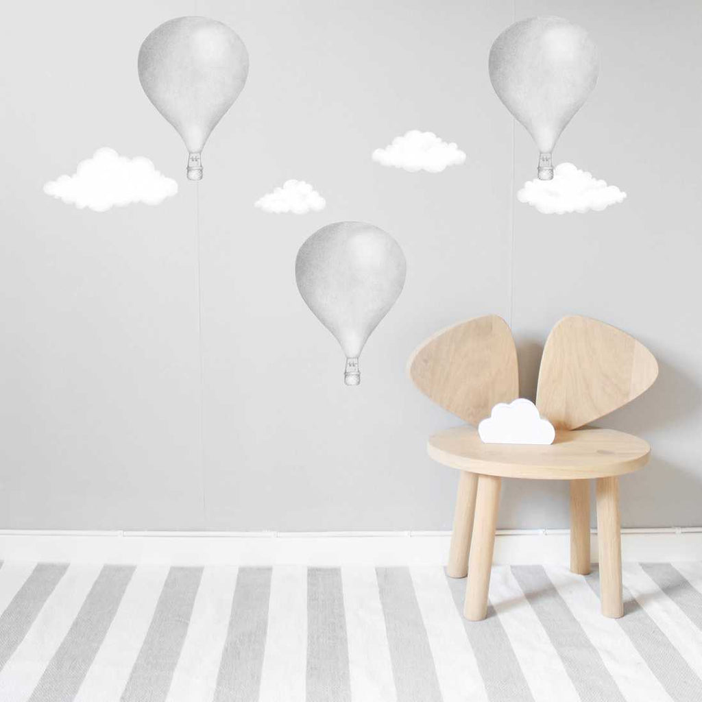 Stickstay Light Grey Balloon Wall Stickers, Wall Decor, Stickstay, nursery, kids, babies, presents, gifts - Home & Me