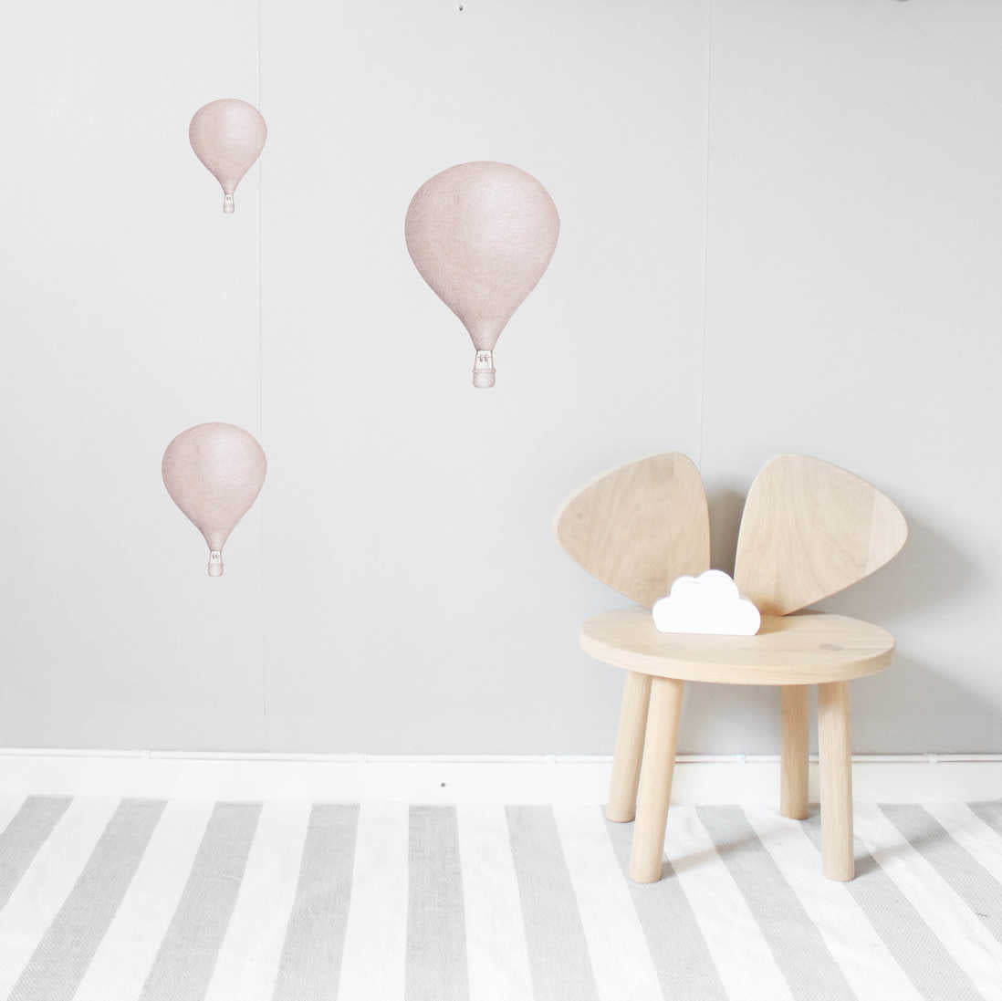 Stickstay Dusty Pink Balloon Wall Stickers