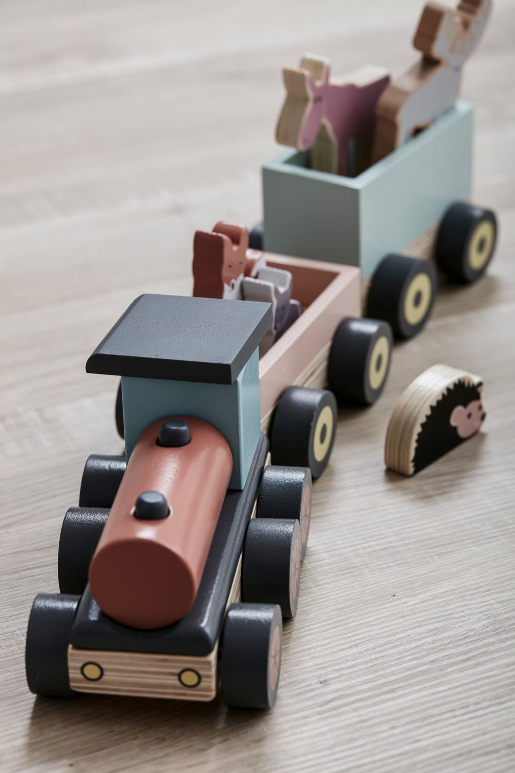 Kids Concept - Animal Wood train Edvin, Wooden Toys, Kids Concept, nursery, kids, babies, presents, gifts - Home & Me