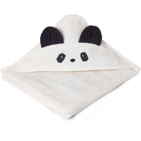 Liewood White Hooded Panda Towel