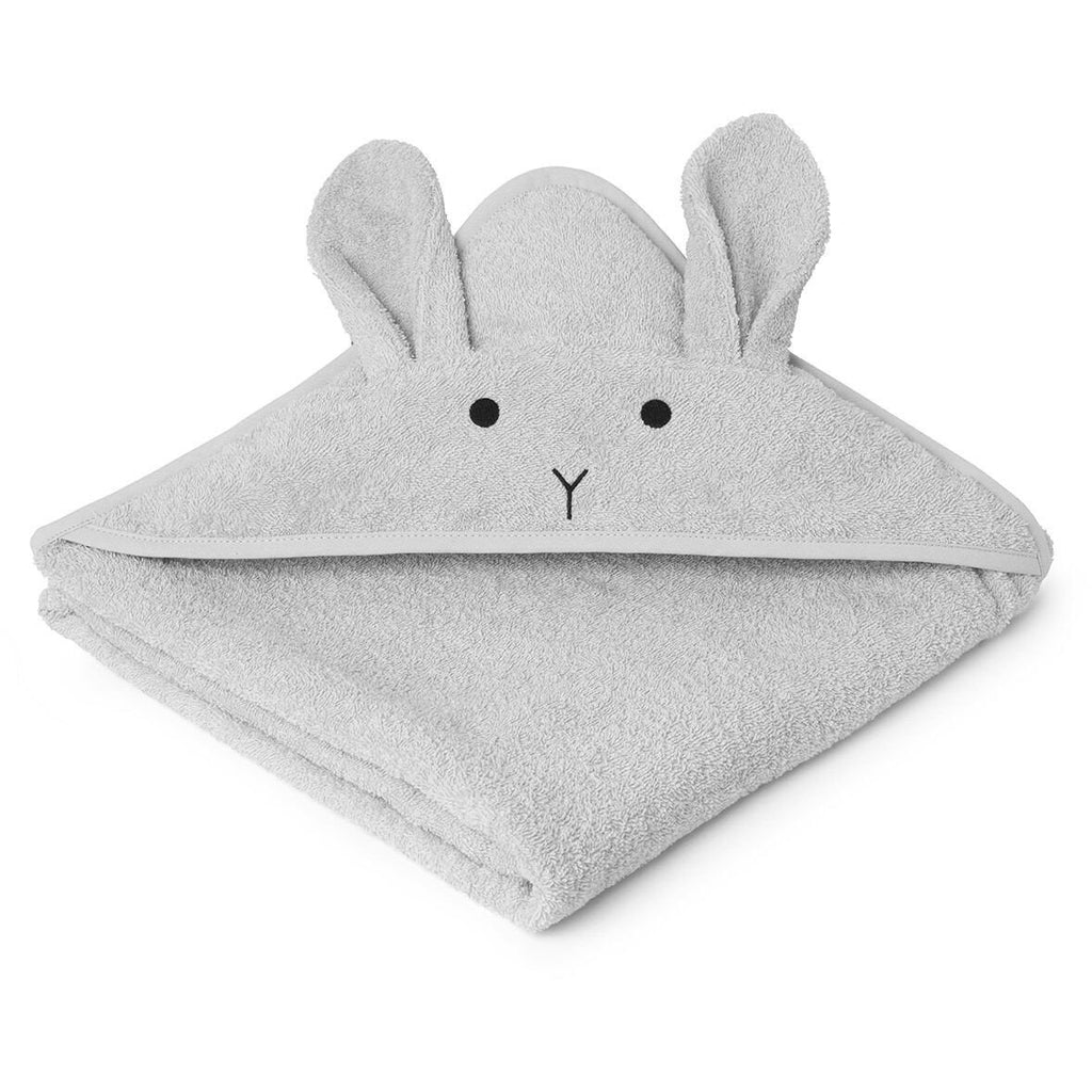 Liewood Light Grey Hooded Rabbit Towel, Pamper and Care, Liewood, nursery, kids, babies, presents, gifts - Home & Me