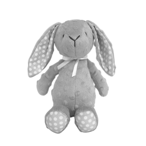 Spinkie Grey Cuddle Rabbit Teddy, Playtime, Spinkie, nursery, kids, babies, presents, gifts - Home & Me
