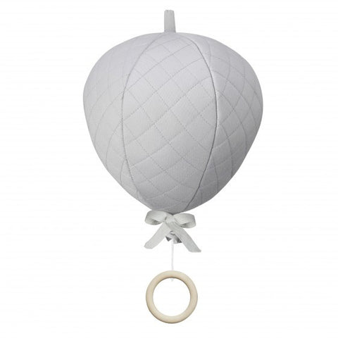 Cam Cam Copenhagen - Grey Balloon Musical Cot Mobile - Home and Me