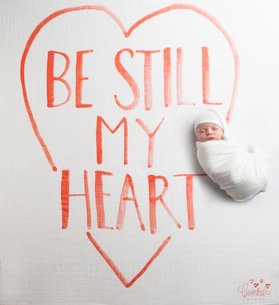 Coveted Things Be Still My Heart Organic Swaddle Blanket, Swaddle, Coveted Things, nursery, kids, babies, presents, gifts - Home & Me