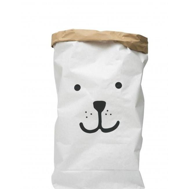 Home & Me Happy Bear Kraft Storage Bag, Storage, Home & Me, nursery, kids, babies, presents, gifts - Home & Me