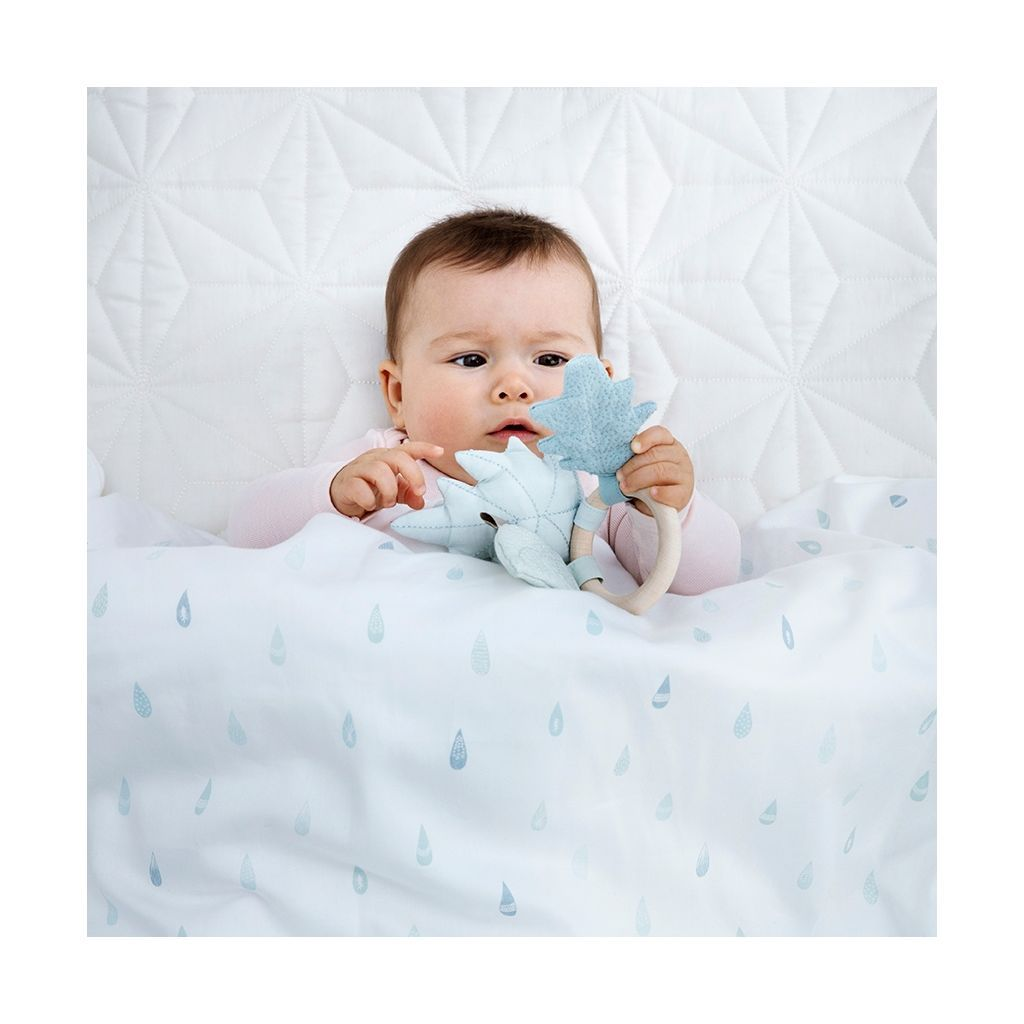 Cam Cam Baby Bedding -Blue Raindrops, Bedding, Cam Cam Copenhagen, nursery, kids, babies, presents, gifts - Home & Me