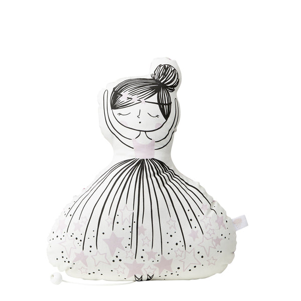 Ballerina Musical Cushion, Playtime, Little Cloud, nursery, kids, babies, presents, gifts - Home & Me