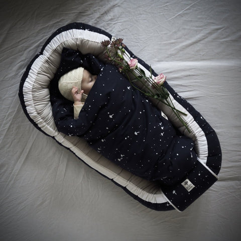 Born Copenhagen  Babynest - Navy and White Night Sky, Babynest, BORN Copenhagen, nursery, kids, babies, presents, gifts - Home & Me
