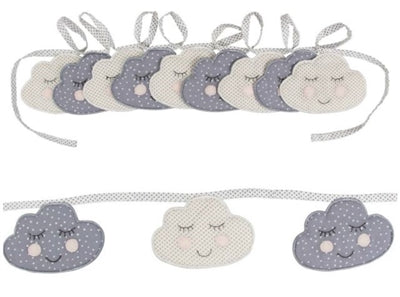 Sass & Belle Sweet Dreams Smiling Cloud Bunting, Bunting, Sass & Belle, nursery, kids, babies, presents, gifts - Home & Me