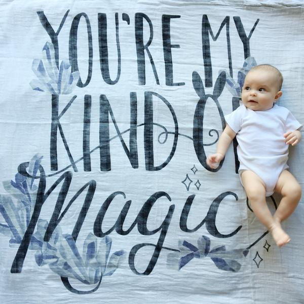 Coveted Things Magic Organic Swaddle Blanket, Swaddle, Coveted Things, nursery, kids, babies, presents, gifts - Home & Me