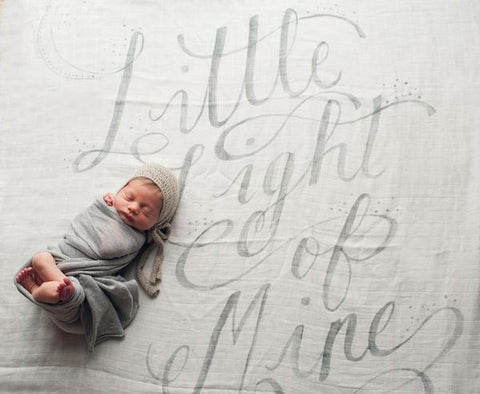 Coveted Things Light Organic Swaddle Blanket, Swaddle, Coveted Things, nursery, kids, babies, presents, gifts - Home & Me
