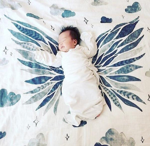 Coveted Things Wings Organic Swaddle Blanket, Swaddle, Coveted Things, nursery, kids, babies, presents, gifts - Home & Me