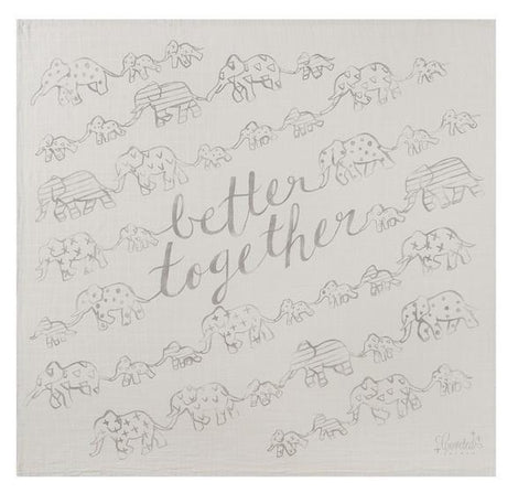 Coveted Things Better Together Organic Swaddle Blanket, Swaddle, Coveted Things, nursery, kids, babies, presents, gifts - Home & Me