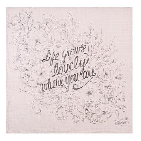 Coveted Things Life Grows Lovely Organic Swaddle Blanket