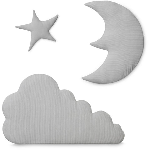 Cam Cam Copenhagen - Grey Star Moon & Cloud Wall Decor - Home and Me