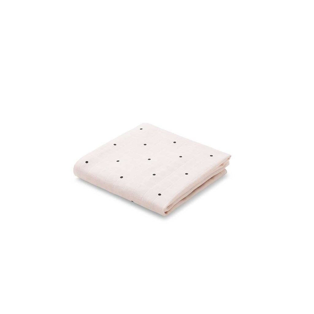 Liewood Rose Pink Polka Dot Muslin Cloth (2 Pack), Pamper and Care, Liewood, nursery, kids, babies, presents, gifts - Home & Me