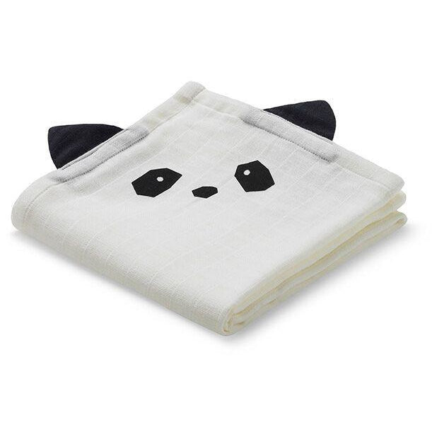 Liewood Cream Panda Muslin Cloth (2 Pack), Pamper and Care, Liewood, nursery, kids, babies, presents, gifts - Home & Me