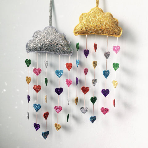 Sparkle Child - Gold Love Heart Cloud Decor, Decor, Sparkle Child, nursery, kids, babies, presents, gifts - Home & Me