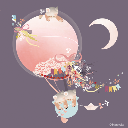 Schmooks - Kites and Kittens, Wall Art, Schmooks, nursery, kids, babies, presents, gifts - Home & Me