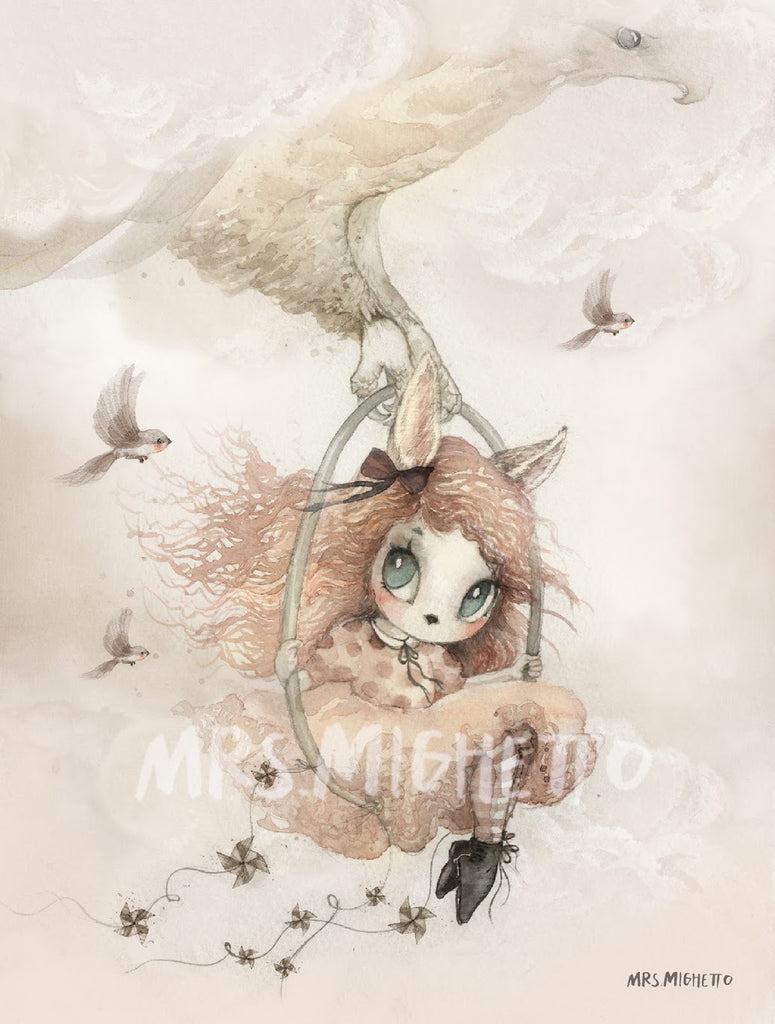 Mrs Mighetto Land of Birds 'Miss Annie', Wall Art, Mrs Mighetto, nursery, kids, babies, presents, gifts - Home & Me