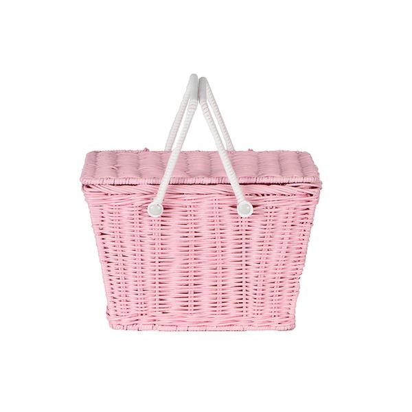 Olli Ella Piki Basket - Pink, , Olli Ella, nursery, kids, babies, presents, gifts - Home & Me