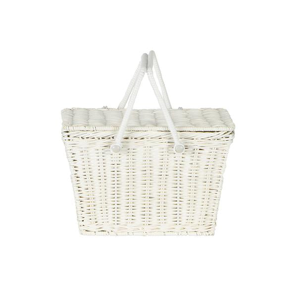 Olli Ella Piki Basket - White, , Olli Ella, nursery, kids, babies, presents, gifts - Home & Me