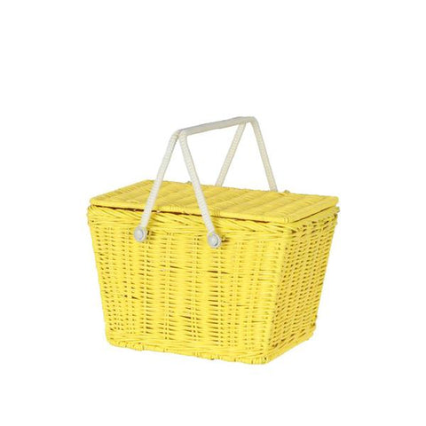 Olli Ella Piki Basket - Yellow, , Olli Ella, nursery, kids, babies, presents, gifts - Home & Me