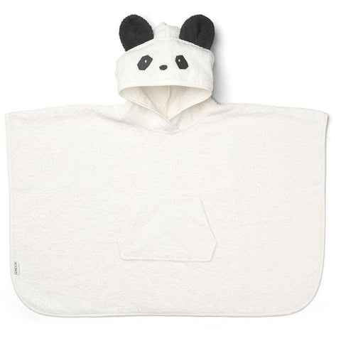 Liewood White Panda Poncho, Pamper and Care, Liewood, nursery, kids, babies, presents, gifts - Home & Me
