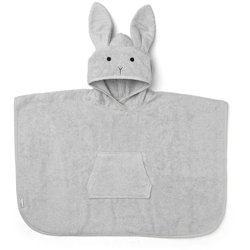 Liewood Grey Rabbit Poncho, Pamper and Care, Liewood, nursery, kids, babies, presents, gifts - Home & Me