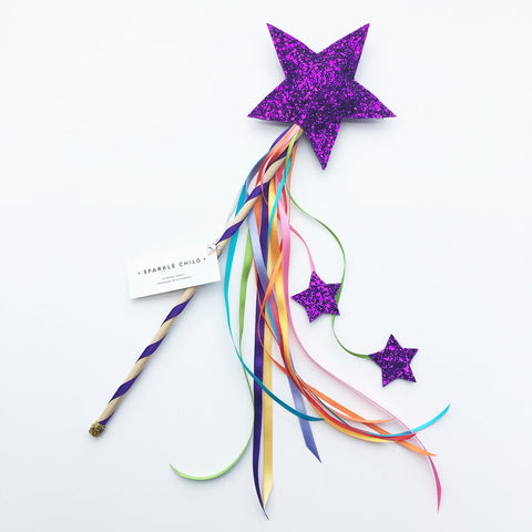 Sparkle Child - Purple Magic Wand, Dress Up, Sparkle Child, nursery, kids, babies, presents, gifts - Home & Me