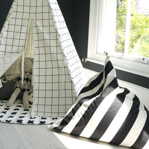 Wildfire Teepee Stripe Pyramid Bean Bag