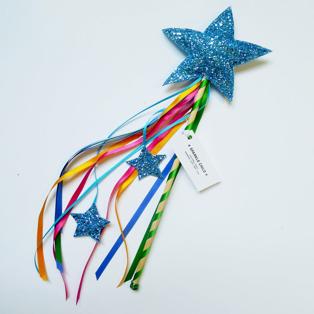 Sparkle Child - Blue Magic Wand, Dress Up, Sparkle Child, nursery, kids, babies, presents, gifts - Home & Me