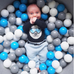 Meow Grey Foam Ball Pit: Blue, Grey and White Balls, Ball Pit, Meow, nursery, kids, babies, presents, gifts - Home & Me