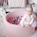 Meow Dusty Pink Foam Ball Pit: Grey, White and Pink Balls, Ball Pit, Meow, nursery, kids, babies, presents, gifts - Home & Me