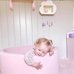 Meow Dusty Pink Foam Ball Pit: Grey, Pearl White & Translucent Balls, Ball Pit, Meow, nursery, kids, babies, presents, gifts - Home & Me