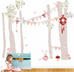 The Wallpaper Company Pink Forest Scene Wall Sticker, Wall Stickers, The Wallsticker Company, nursery, kids, babies, presents, gifts - Home & Me