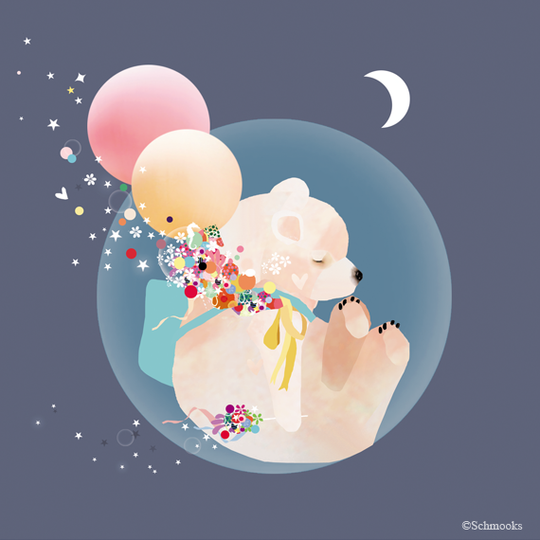Schmooks - Sky Bear, Wall Art, Schmooks, nursery, kids, babies, presents, gifts - Home & Me